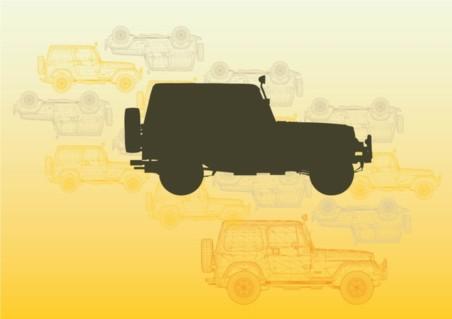 Jeep set vector