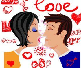 Kiss poster vector