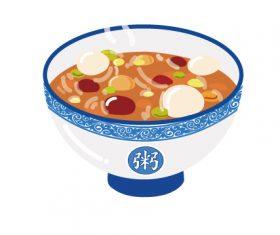 Laba porridge element vector