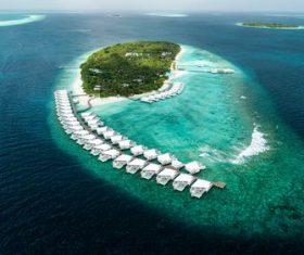 Laccadive Sea Maldives Stock Photo
