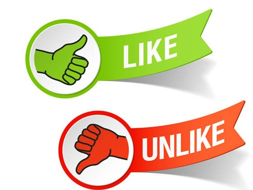 Like Unlike Stickers vector