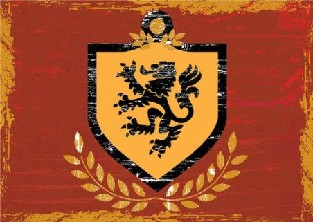 Lion Shield Coat Arms vector material