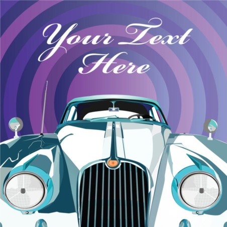 Luxury Limousine Invitation vector material