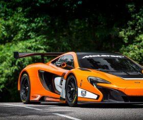 McLaren McLaren 650S GT3 sports car Stock Photo 01