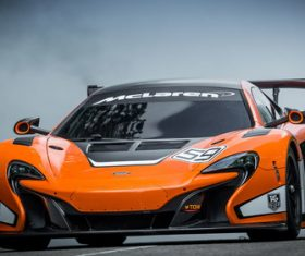 McLaren McLaren 650S GT3 sports car Stock Photo 02
