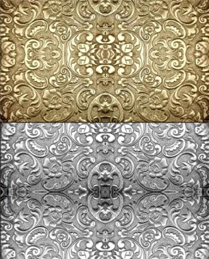 Metal texture embossed pattern background Illustration vector