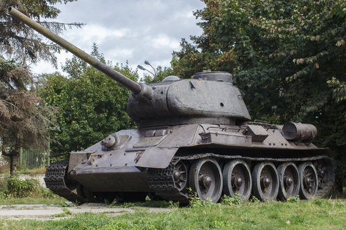 Military old tank Stock Photo 02