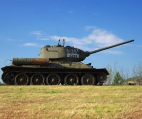 Military old tank Stock Photo 07