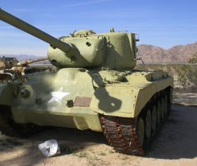 Military old tank Stock Photo 09