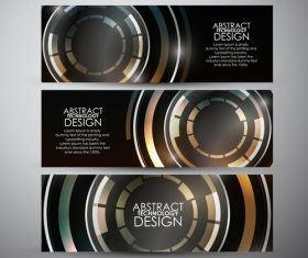Modern science and technology banners vectors 03