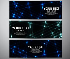 Modern science and technology banners vectors 04