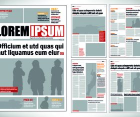 Newspaper layout template vectors 01