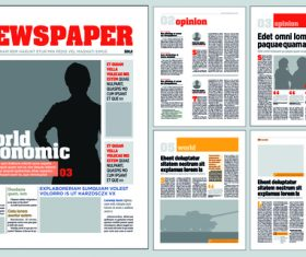 Newspaper layout template vectors 02