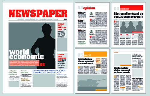 newspaper layout template vectors 02 free download