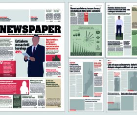 Newspaper layout template vectors 03