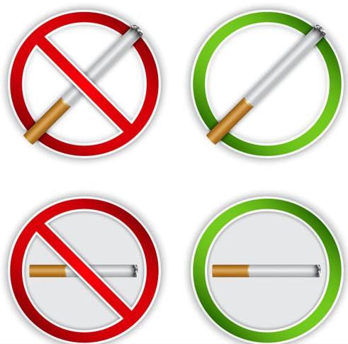 No Smoking Sign set vector