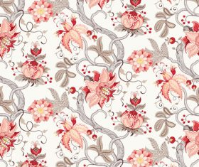 Ornate floral patterns retro vector 01