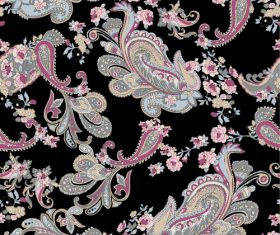 Paisley vintage pattern seamless vector 01