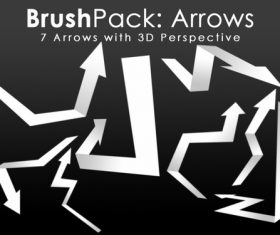 Paper arrow Photoshop Brushes