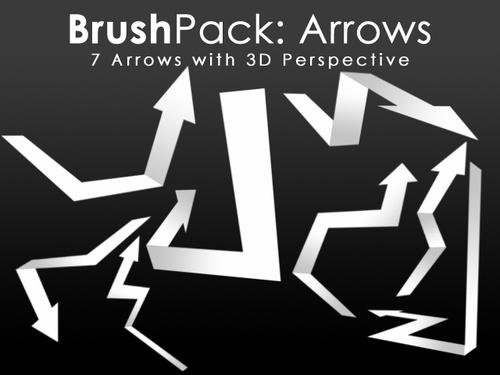 Paper arrow Photoshop Brushes