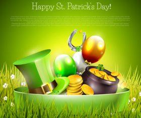 Patricks day festvial template vector design 04