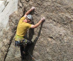 People are rock climbing Stock Photo 02