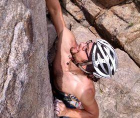 People are rock climbing Stock Photo 03