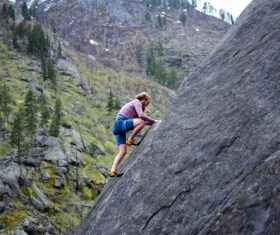 People are rock climbing Stock Photo 05