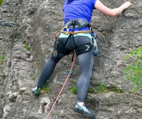 People are rock climbing Stock Photo 08