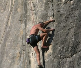 People are rock climbing Stock Photo 10
