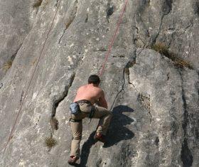 People are rock climbing Stock Photo 11