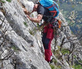 People are rock climbing Stock Photo 13