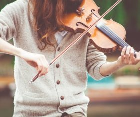People playing the violin Stock Photo 02