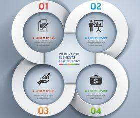 Personality statistics chart design vector material 04