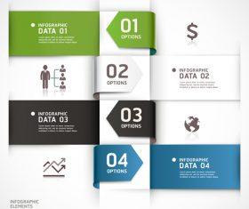 Personality statistics chart design vector material 05