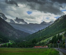 Picturesque Swiss landscape Stock Photo 01
