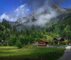 Picturesque Swiss landscape Stock Photo 03
