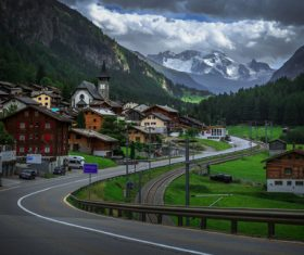 Picturesque Swiss landscape Stock Photo 04
