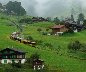 Picturesque Swiss landscape Stock Photo 05