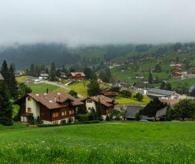Picturesque Swiss landscape Stock Photo 06