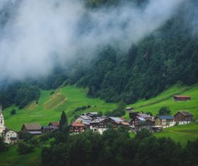 Picturesque Swiss landscape Stock Photo 08