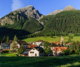 Picturesque Swiss landscape Stock Photo 09