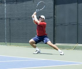 Playing tennis Stock Photo 02