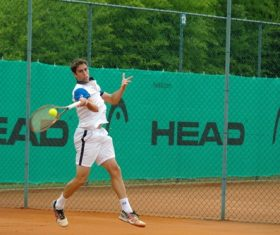Playing tennis Stock Photo 03