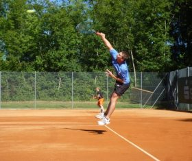Playing tennis Stock Photo 06