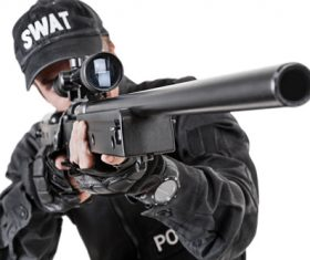 Police weapon training Stock Photo 02
