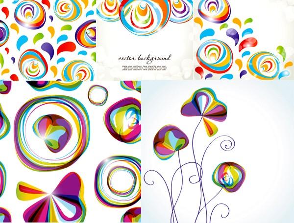 Popular abstract graphics background vectors