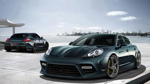 Porsche PANAMERA car Stock Photo 04