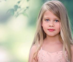Pretty cute little girl Stock Photo 03