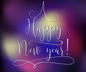 Purple blurs new year background art vector